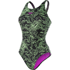 speedo Boom Allover Muscleback Swimsuit Women black/green